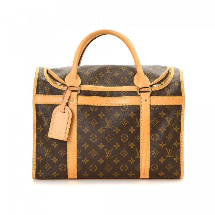 722347e3f78b LXRandCo guarantees this is an authentic vintage Louis Vuitton Sac Chien 40  Dog Carrier. This signature pet accessory in beautiful brown is made in  monogram ...