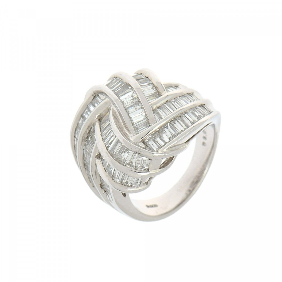 platinum estate baguettes once products diamond a upon in ring with flower