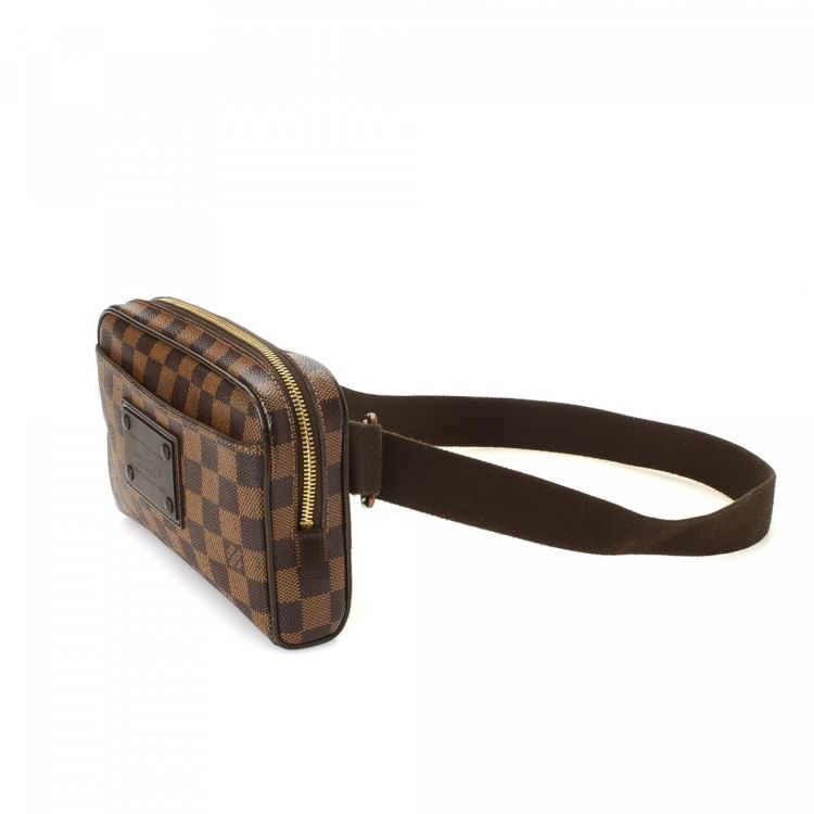 c8232b477b8b The authenticity of this vintage Louis Vuitton Brooklyn Bum Bag vanity case    pouch is guaranteed by LXRandCo. Crafted in damier ebene coated canvas