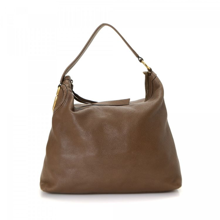 732b4ad713f Gucci Hobo Bag Leather - LXRandCo - Pre-Owned Luxury Vintage