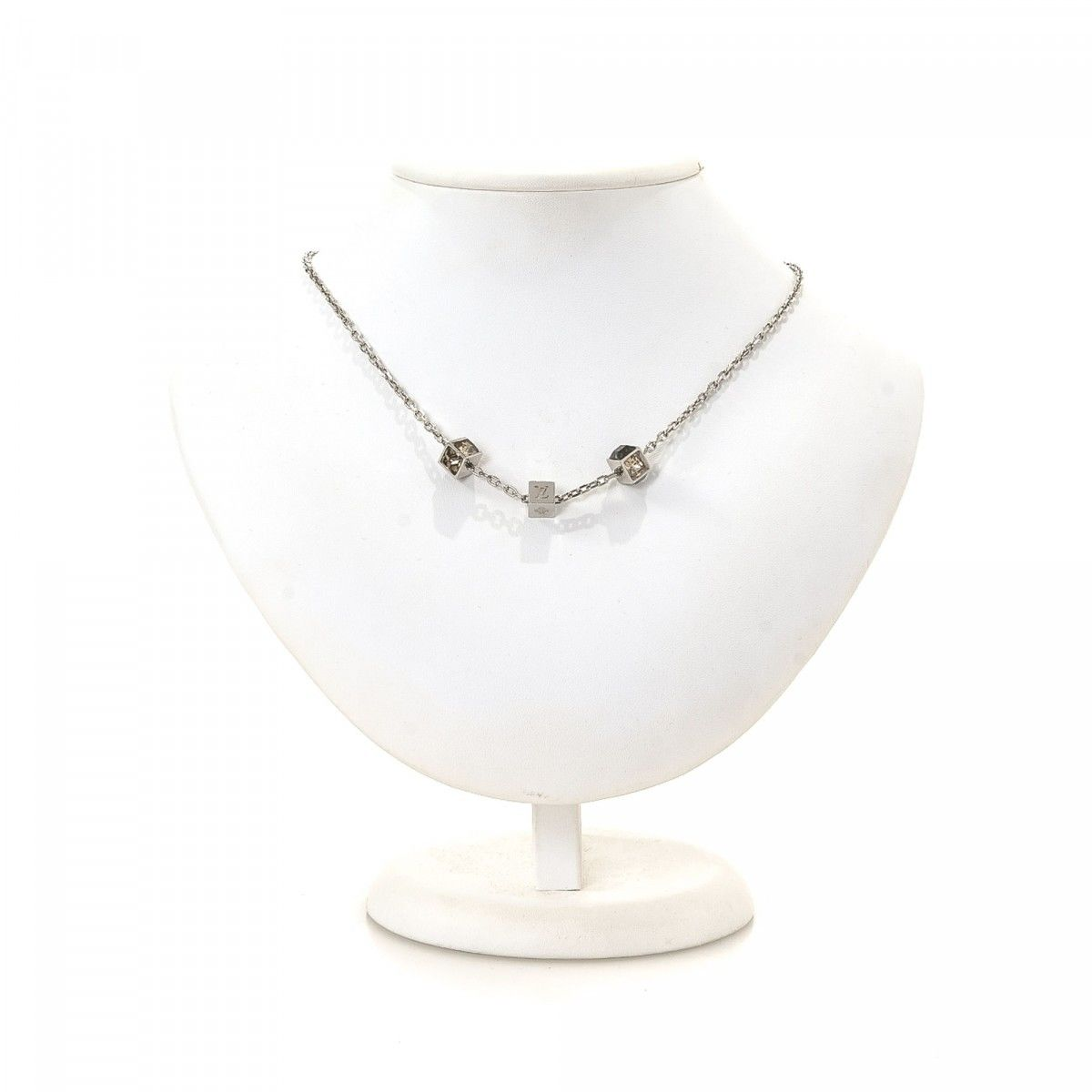 sterling silver chain necklace pearl p with latin cross