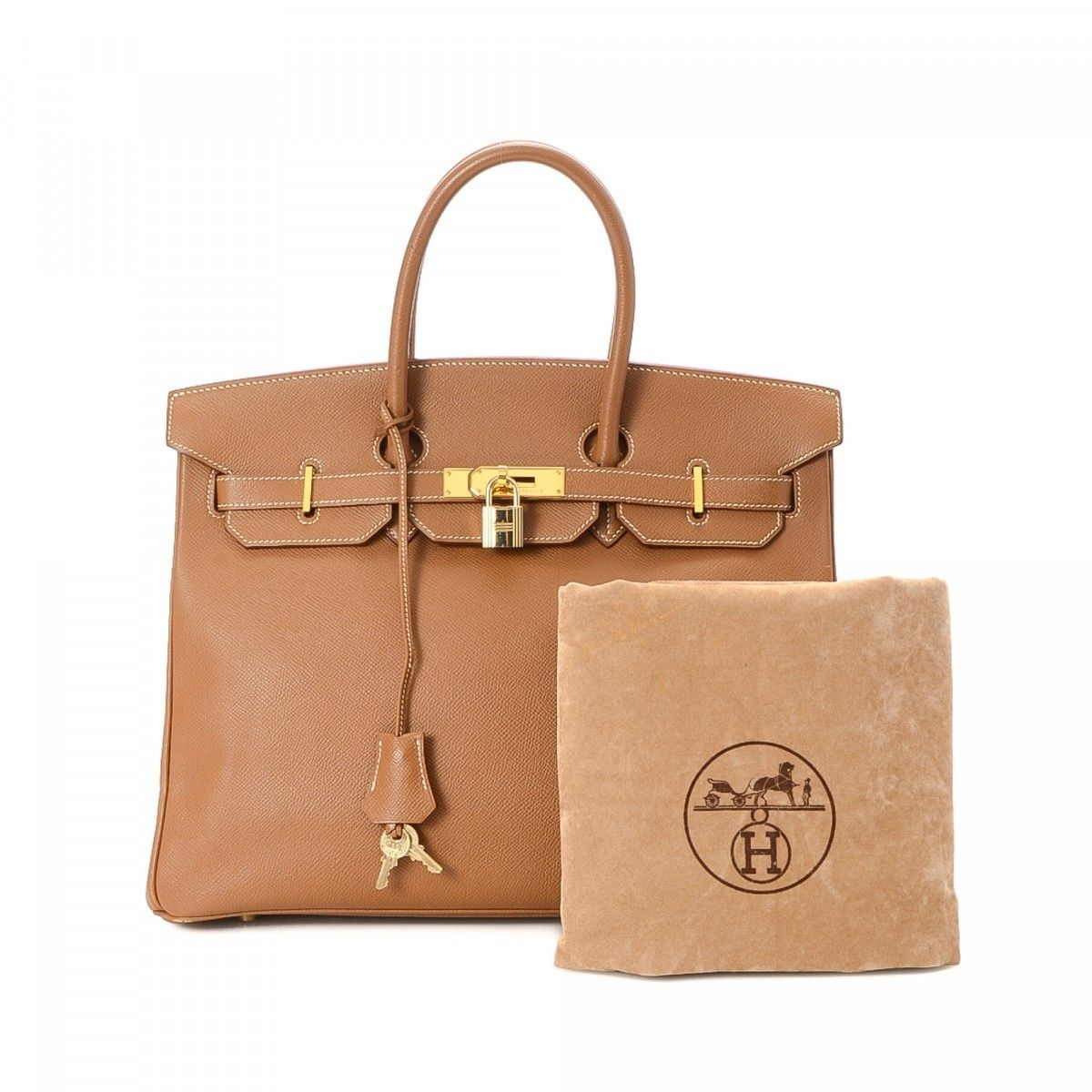 a7bbb8b86b7 Hermès Birkin 35 Gold Courchevel GHW Courchevel Calf - LXRandCo ...