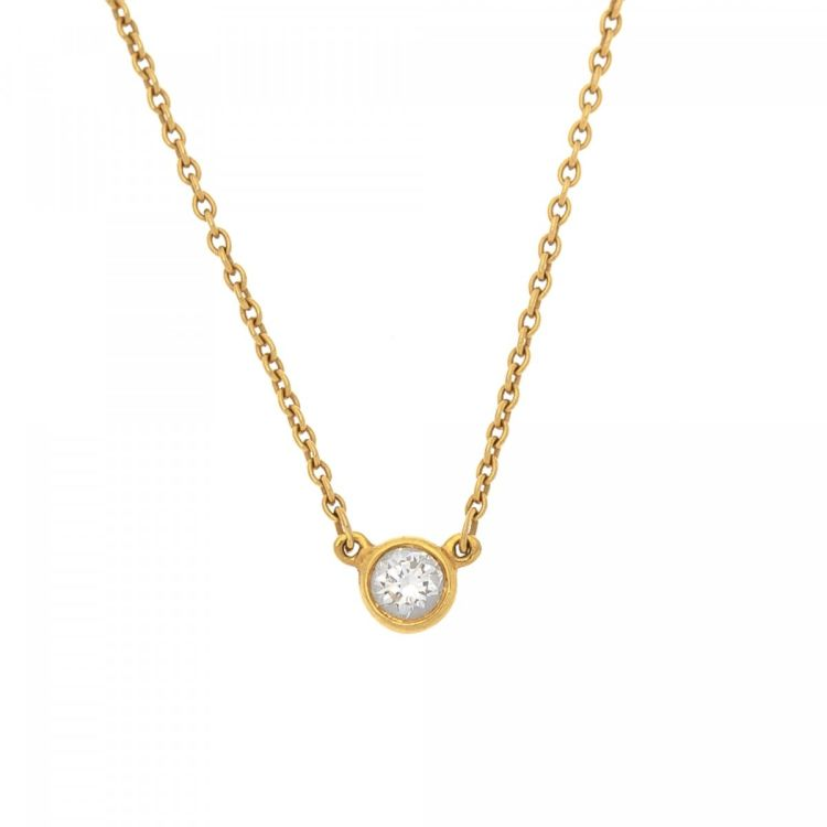 Tiffany elsa peretti diamonds by the yard pendant necklace 41cm 18k tiffany elsa peretti diamonds by the yard pendant necklace 41cm 18k yellow gold lxrandco pre owned luxury vintage aloadofball Gallery