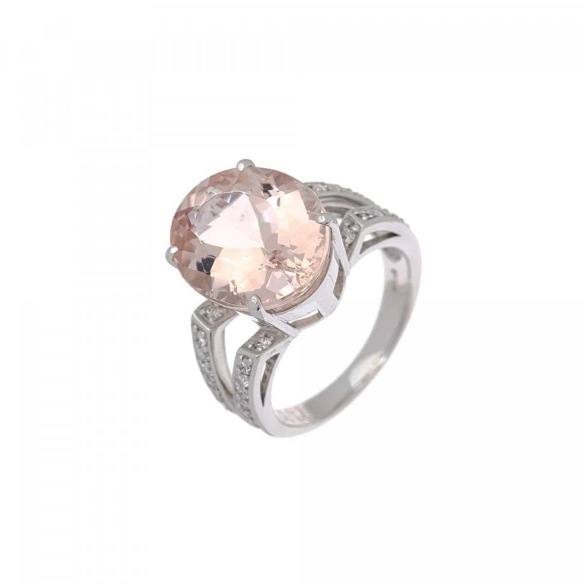 round colored nl rose jewelry cut fd diamond ring morganite rg pink gold with halo in engagement