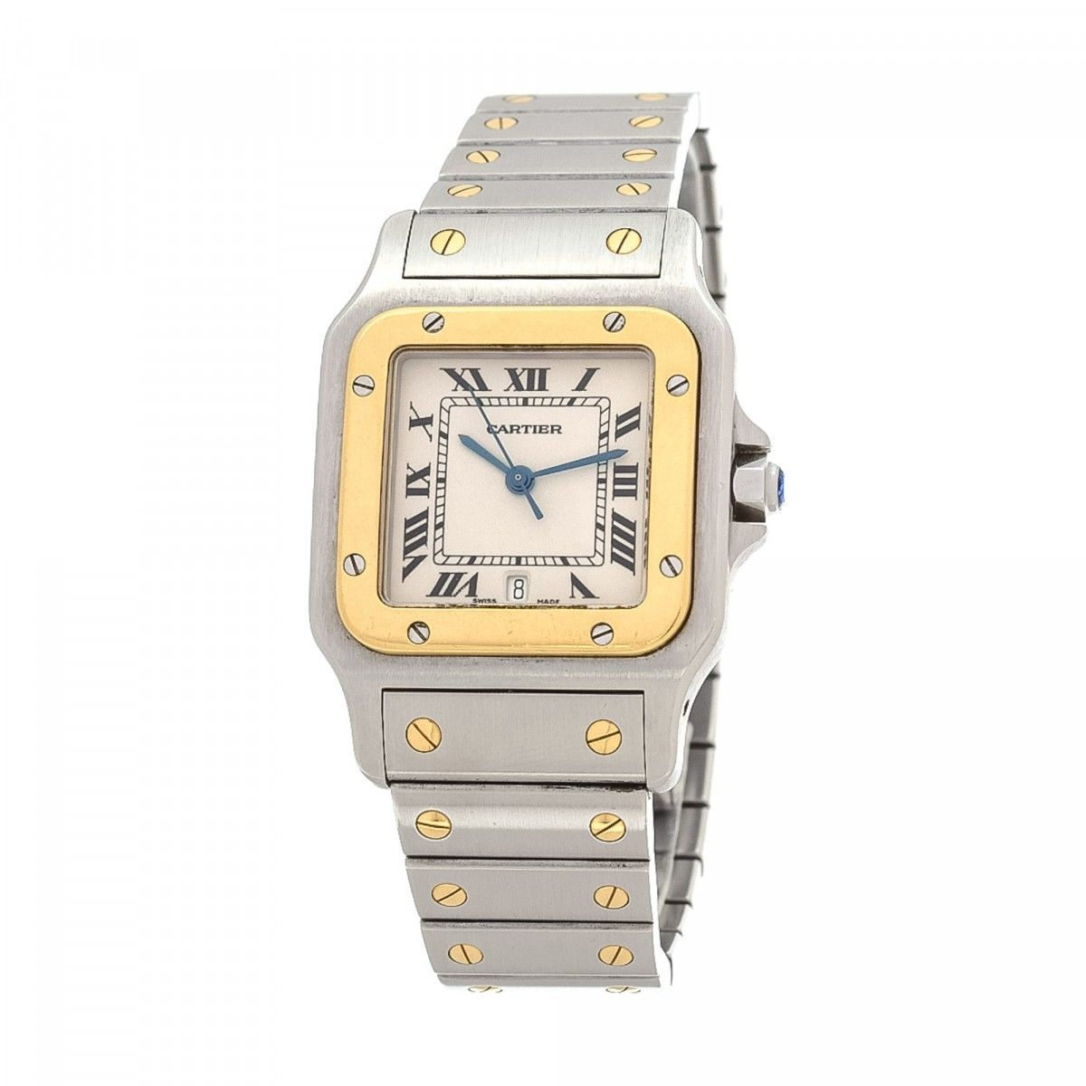 men ref mens cartier santos watch owned watches image pre