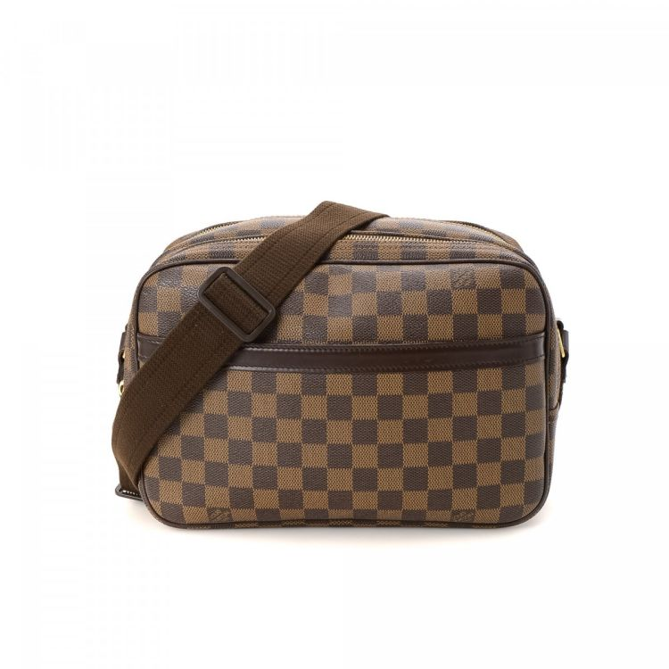 b1b199af2 Louis Vuitton Reporter PM Damier Ebene Coated Canvas - LXRandCo ...