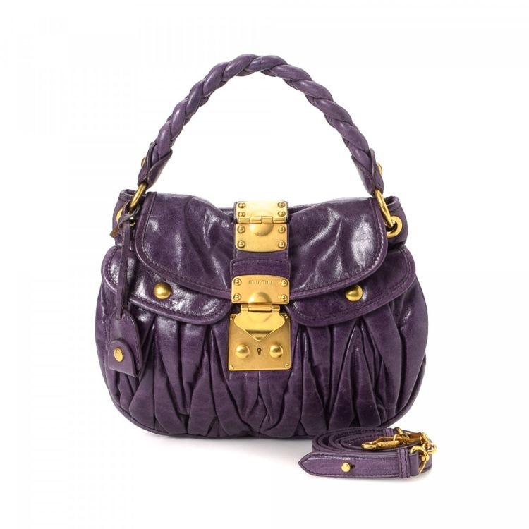 5e19e701f465 The authenticity of this vintage Miu Miu Coffer shoulder bag is guaranteed  by LXRandCo. This signature shoulder bag was crafted in matelasse leather  in ...