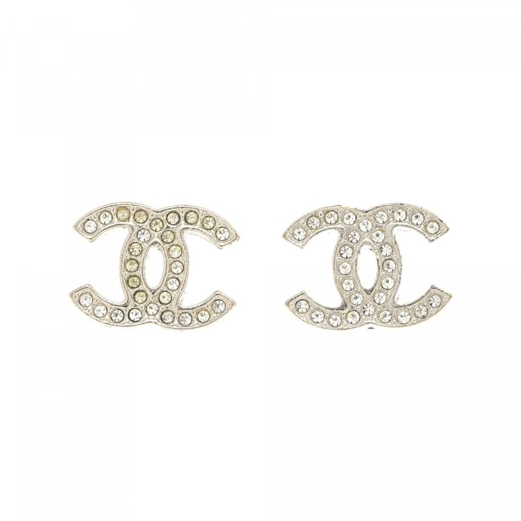 Lxrandco Guarantees These Are Authentic Vintage Chanel Cc Logo Earrings Refined Hoops Come In Silver Tone Stainless Steel Due To The Nature
