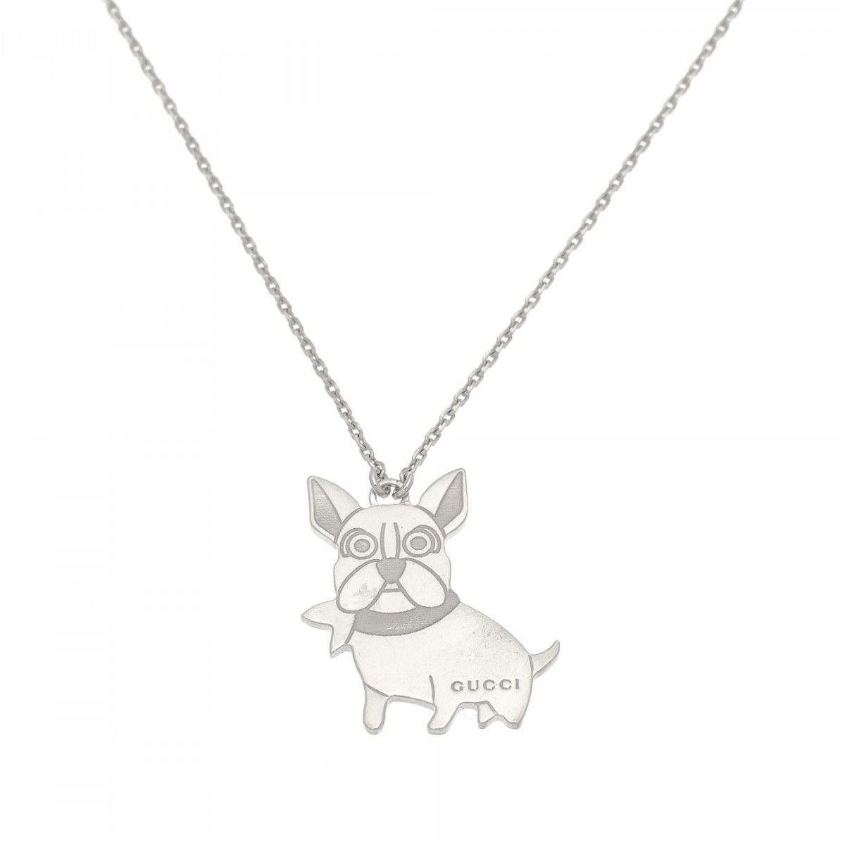 Gucci dog pendant necklace 50cm 925 sterling silver lxrandco pre gucci dog pendant necklace 50cm 925 sterling silver lxrandco pre owned luxury vintage aloadofball Choice Image