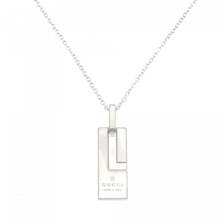 0a86f57b7 Gucci Necklace 51cm 925 Sterling Silver - LXRandCo - Pre-Owned ...