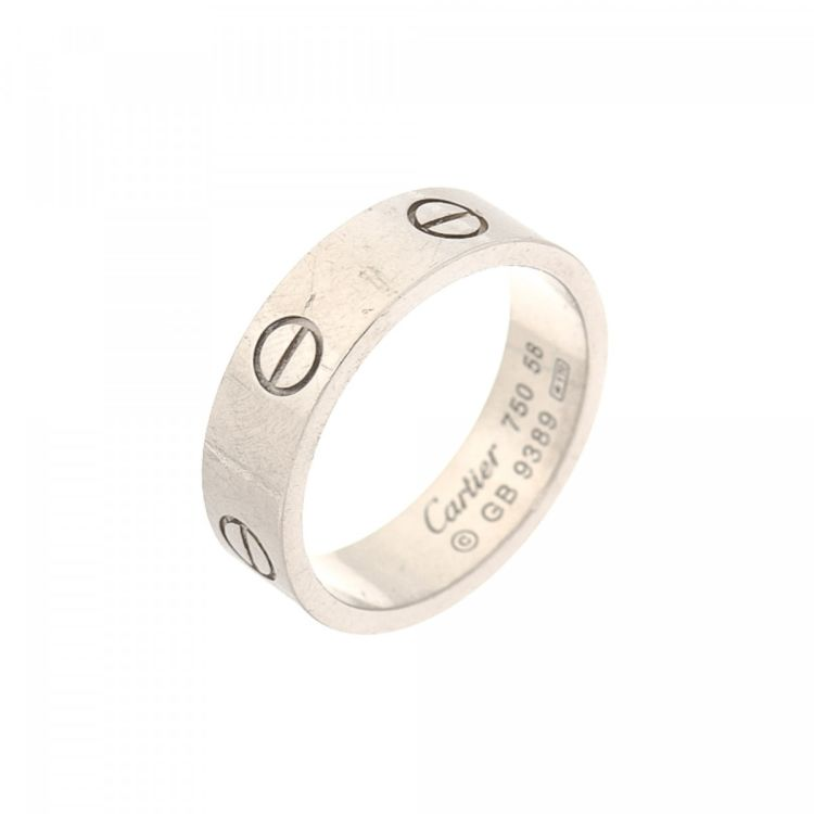 ring gold cartier white mini i diamond tradesy love rings