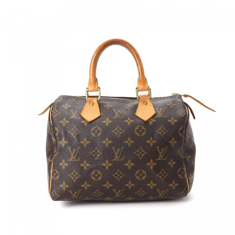 d73396be231f41 Louis Vuitton Speedy 25 Monogram Coated Canvas - LXRandCo - Pre ...
