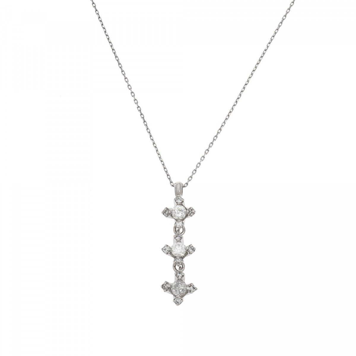 jewel croghan s cross estate products box pendant necklace
