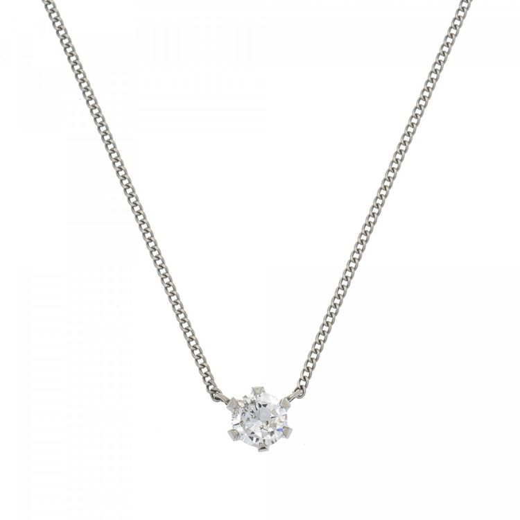p context necklace diamond solitaire the platinum pendant beaverbrooks productx