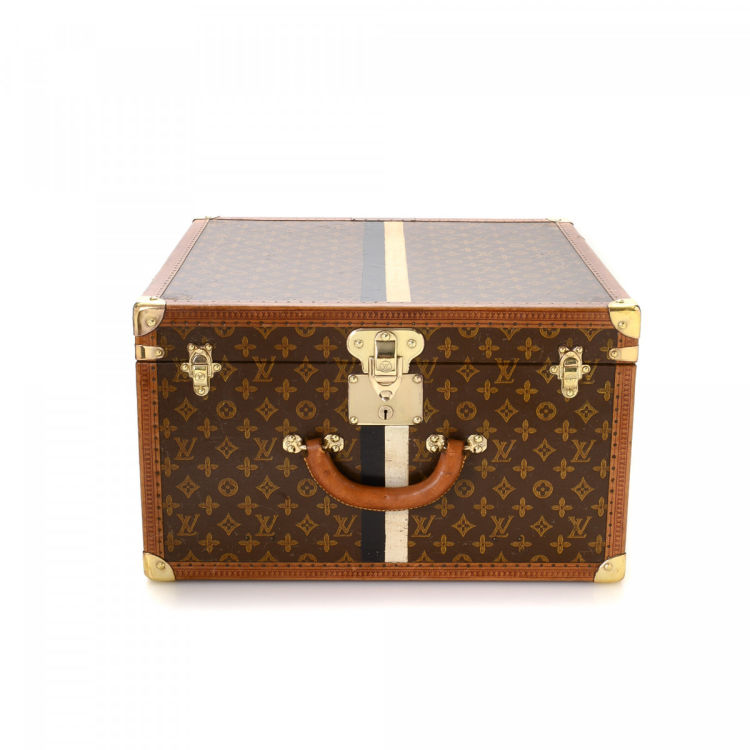 70b527183641 The authenticity of this vintage Louis Vuitton Malle cabine Steamer trunk  is guaranteed by LXRandCo. This everyday suitcase in beautiful brown is  made in ...