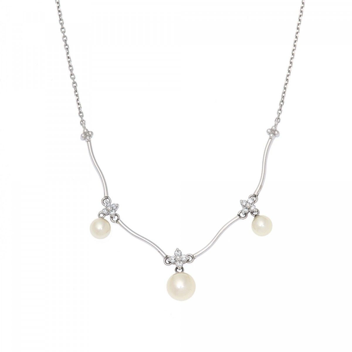 de colpearl necklace maria products diamond australian jewelry pearl