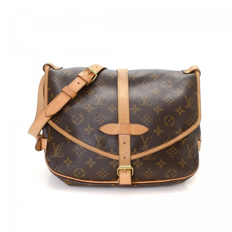 795633dcd3a1 Louis Vuitton Saumur 30 Monogram Coated Canvas - LXRandCo - Pre-Owned  Luxury Vintage