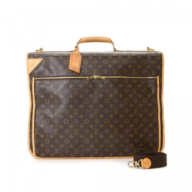 LXRandCo guarantees this is an authentic vintage Louis Vuitton Porte Habits Garment  Bag travel bag. This everyday travel bag in brown is made in monogram ... 076bad2510081
