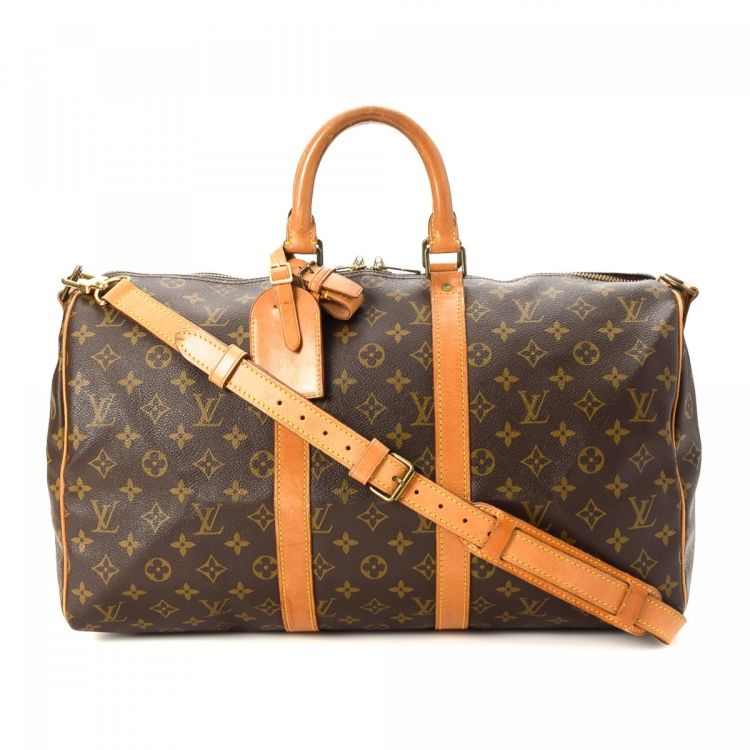 89994011685e Louis Vuitton Keepall 45 Bandouliere Monogram Coated Canvas - LXRandCo - Pre -Owned Luxury Vintage