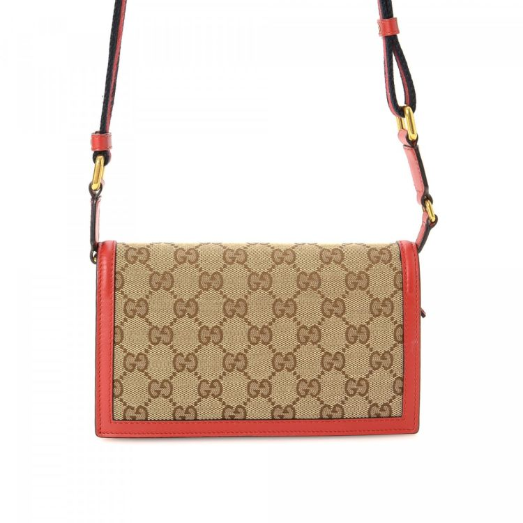 73b9bc6e6b9d The authenticity of this vintage Gucci Lady Web Convertible wallet is  guaranteed by LXRandCo. This signature coin purse in beige is made in gg  canvas.