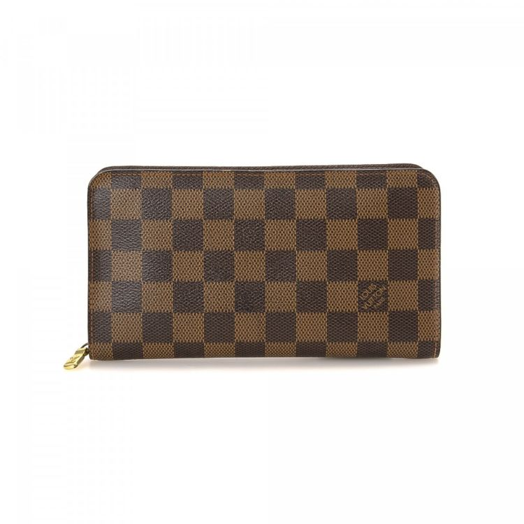 c2802ed91f0 Louis Vuitton Porte Monnaie Zippy Wallet Damier Ebene Coated Canvas -  LXRandCo – Trésors d occasion