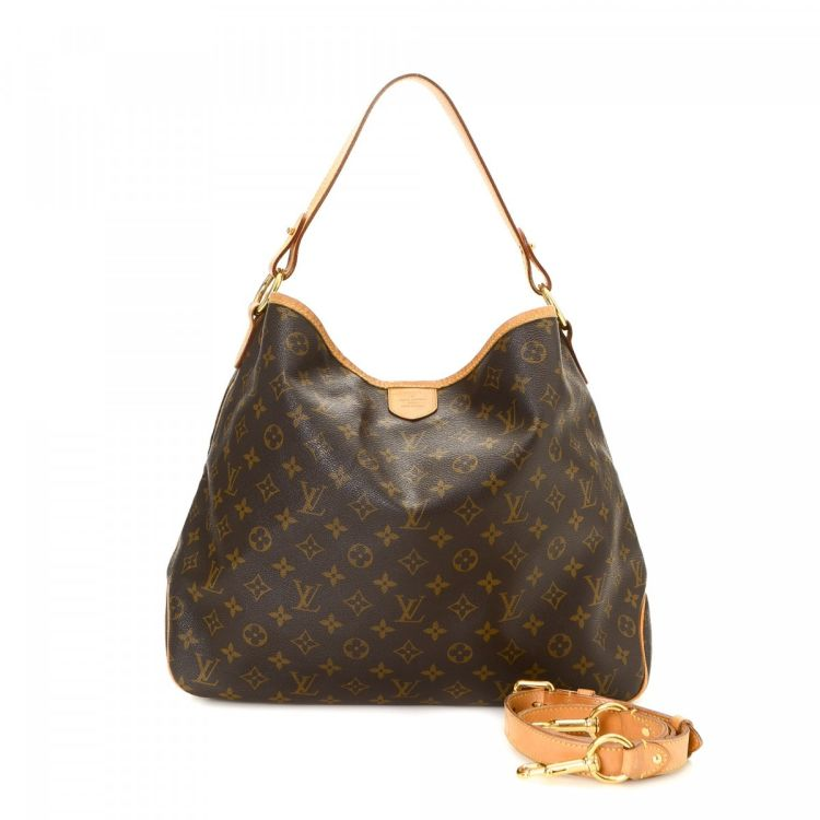 058788f867f6 LXRandCo guarantees this is an authentic vintage Louis Vuitton Delightful MM  shoulder bag. This classic purse was crafted in monogram coated canvas in  ...