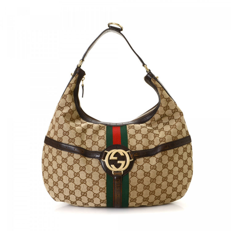 fddebbcc250 Gucci GG Canvas Web Shoulder Bag Web Canvas - LXRandCo - Pre-Owned Luxury  Vintage
