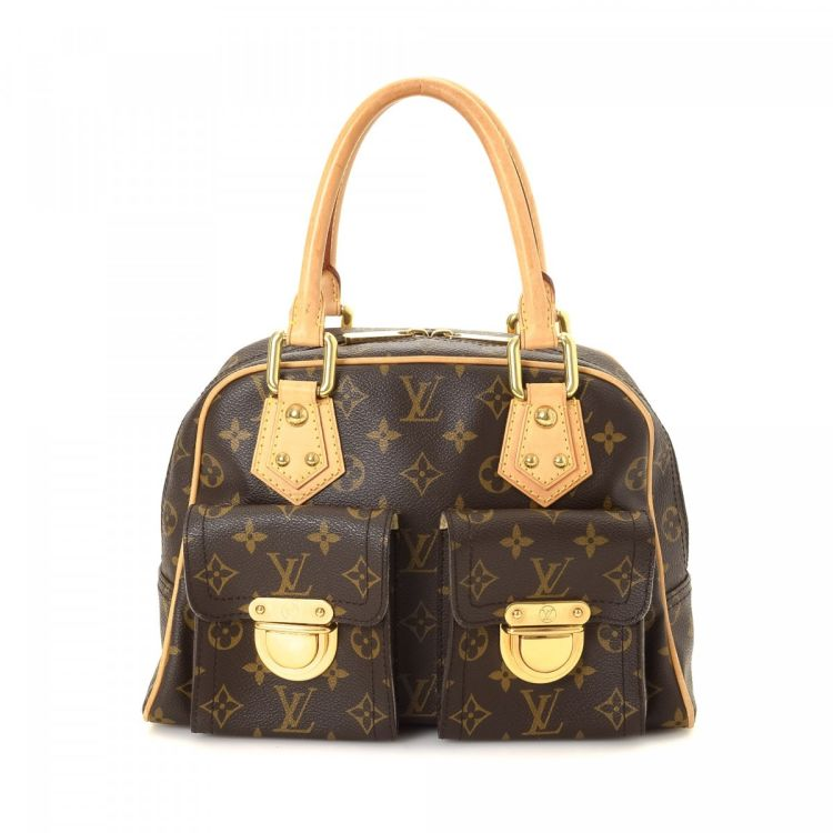 5fd3f1f4491c LXRandCo guarantees the authenticity of this vintage Louis Vuitton  Manhattan PM handbag. Crafted in monogram coated canvas