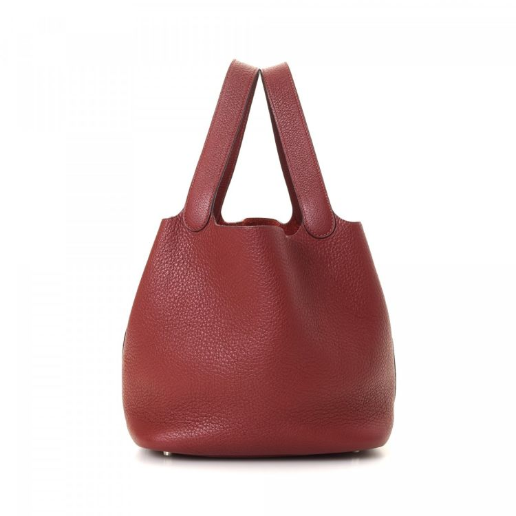 e2033c67779c ... where can i buy hermès picotin mm rouge vif taurillon clemence phw  taurillon clemence calf lxrandco