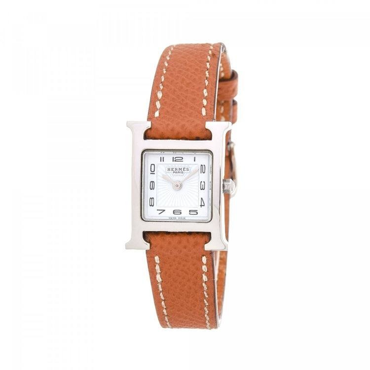 Hermès Heure H Watch 17mm Silver Tone Stainless Steel Watches