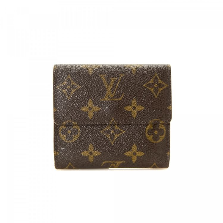 f258d8497df2 LXRandCo guarantees the authenticity of this vintage Louis Vuitton Elise  wallet. This lovely compact wallet was crafted in monogram coated canvas in  brown.
