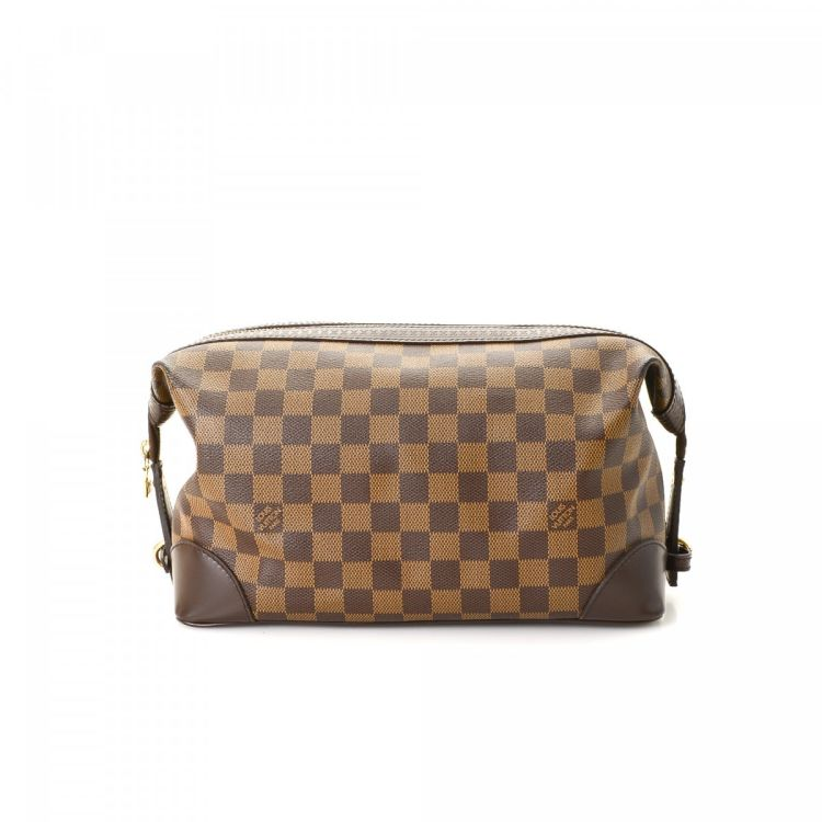 8e932c785ca7 Louis Vuitton Trousse Vaslav Toiletry Pouch Damier Ebene Coated Canvas -  LXRandCo - Pre-Owned Luxury Vintage