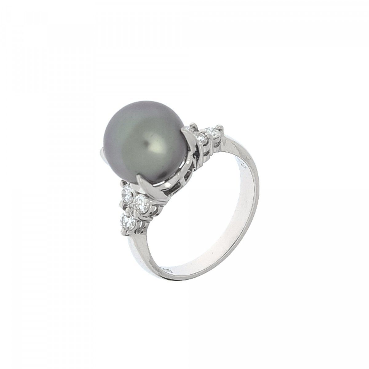 sterling floral silver pearl black products stackable women enamel rings