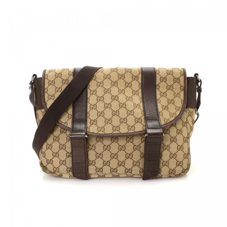 ac181247744 Gucci GG Canvas Messenger GG Canvas - LXRandCo - Pre-Owned Luxury ...