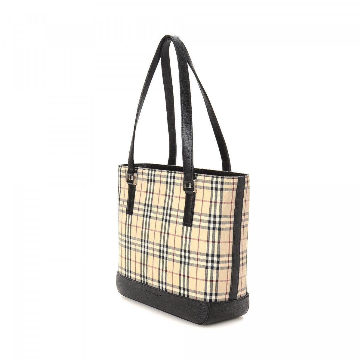 a0601decfb3bc Burberry Classic Check Tote Bag Canvas - LXRandCo - Pre-Owned Luxury ...