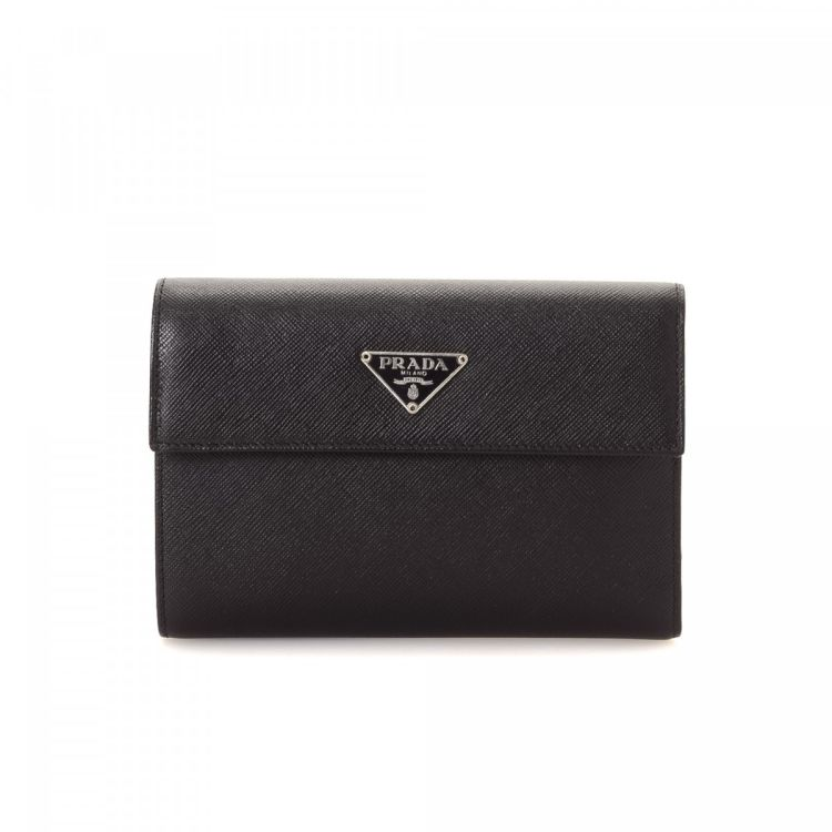 1f8a5152302f ... black saffiano leather nylon m170 93d1f c2bd6; low cost prada saffiano trifold  wallet saffiano leather lxrandco pre owned luxury vintage d0863 c34ac