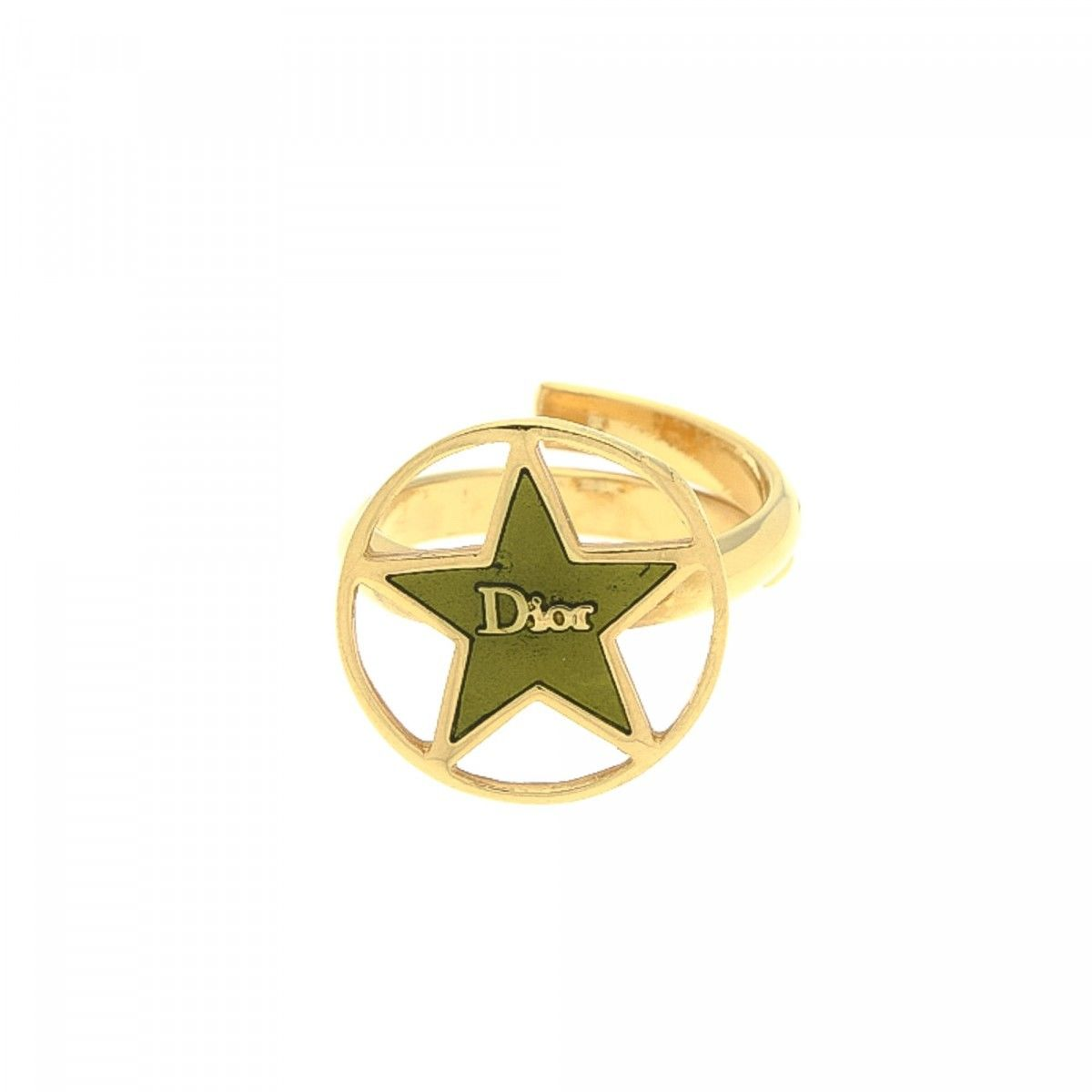 large en rings luxury star tone dior pre us plated lxrandco owned gold metal ring