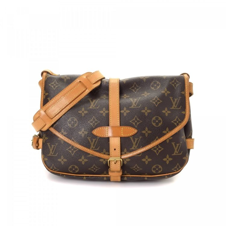 6e07474bb71b ... authenticity of this vintage Louis Vuitton Saumur 30 messenger    crossbody bag. This exquisite hobo bag was crafted in monogram coated canvas  in brown.