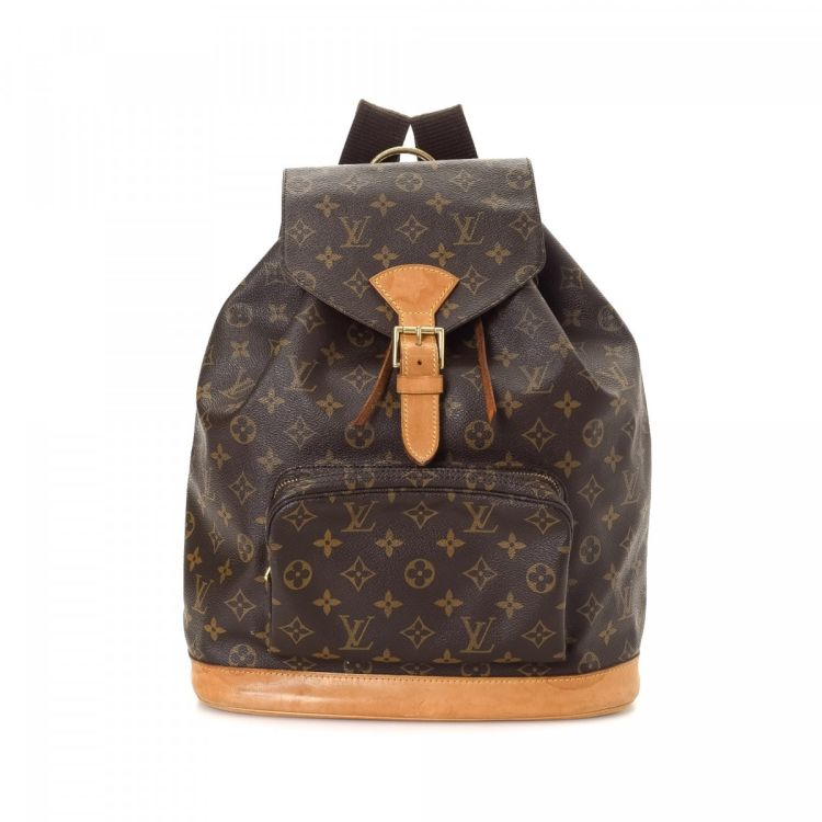38a46adcac2d LXRandCo guarantees the authenticity of this vintage Louis Vuitton  Montsouris GM backpack. This classic knapsack in beautiful brown is made in  monogram ...