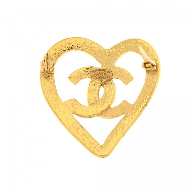Chanel Broche - Gold Plated / Heart pTnCJJnJZr