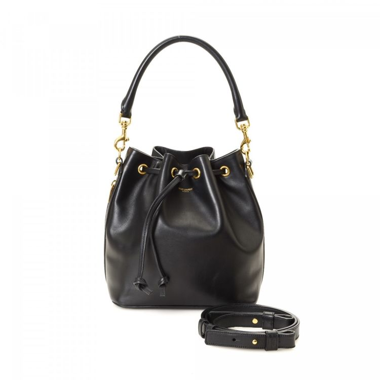 41307243272c LXRandCo guarantees the authenticity of this vintage Yves Saint Laurent  Emmanuelle Bucket Bag shoulder bag. This lovely shoulder bag in black is  made of ...