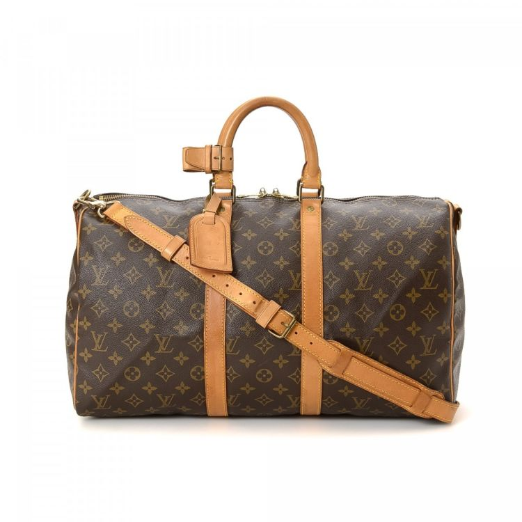 0bef5e3267a38 Louis Vuitton Keepall 45 Bandoulière Monogram Coated Canvas - LXRandCo -  Pre-Owned Luxury Vintage
