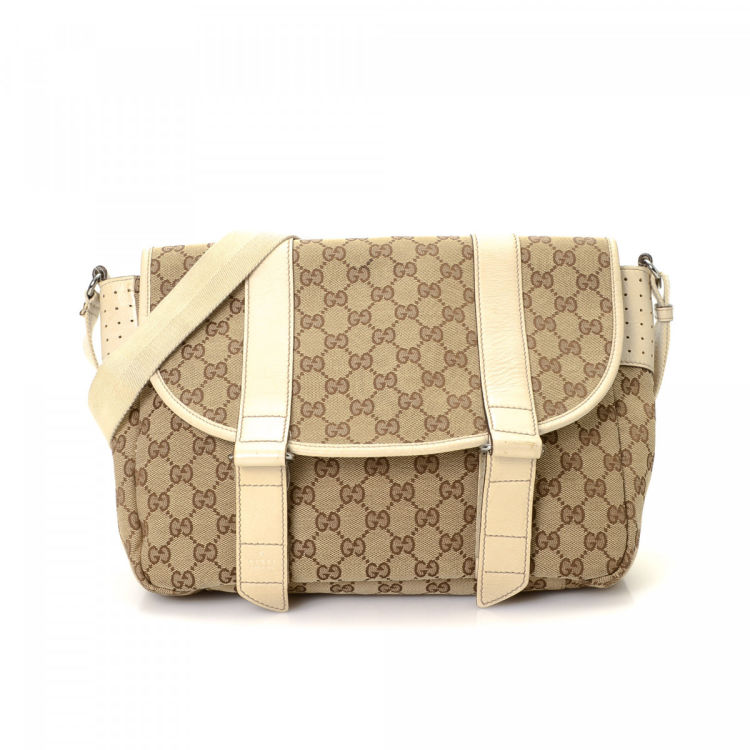 f5270eb83 Gucci GG Canvas Messenger Bag GG Canvas - LXRandCo - Pre-Owned Luxury  Vintage