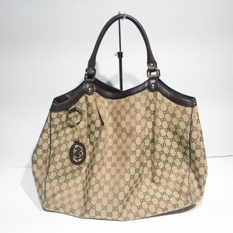 e93157ed4 Gucci Sukey Large Tote GG Canvas - LXRandCo - Pre-Owned Luxury Vintage