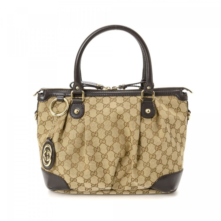 819447f6f7b2 Gucci GG Canvas Sukey Handbag GG Canvas - LXRandCo - Pre-Owned ...