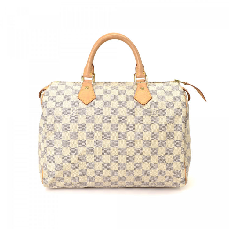 Louis Vuitton Sdy 30 Damier Azur Coated Canvas Lxrandco Pre Owned Luxury Vintage