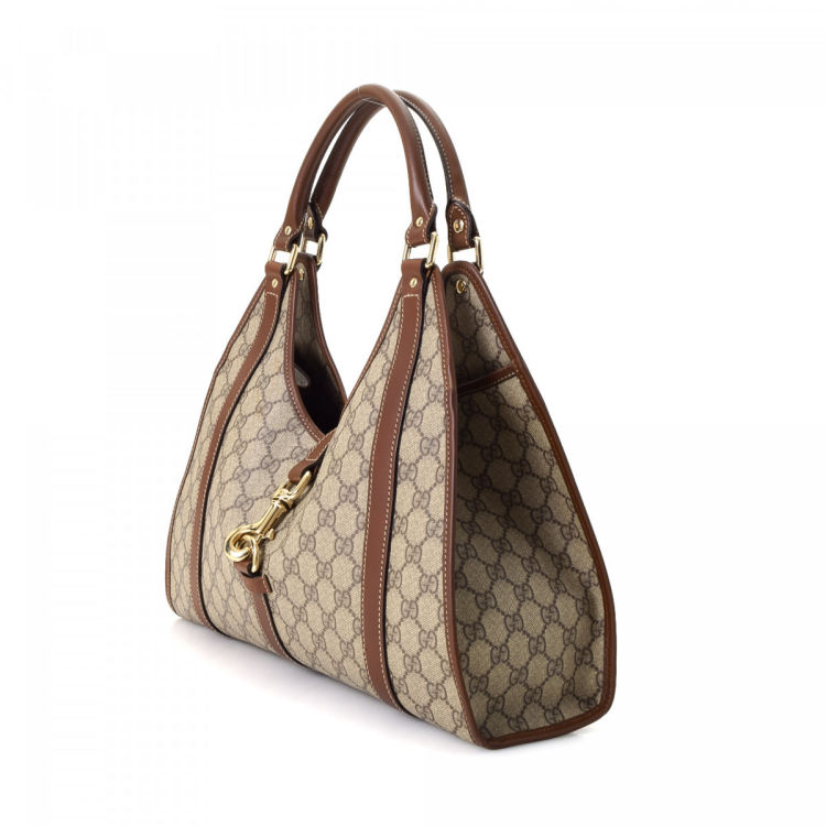 eeaa06783a5 GG Supreme Bardot Bag. Free Shipping. The authenticity of this vintage Gucci  Hobo Bag shoulder bag is guaranteed by LXRandCo. Lovely pocketbook.