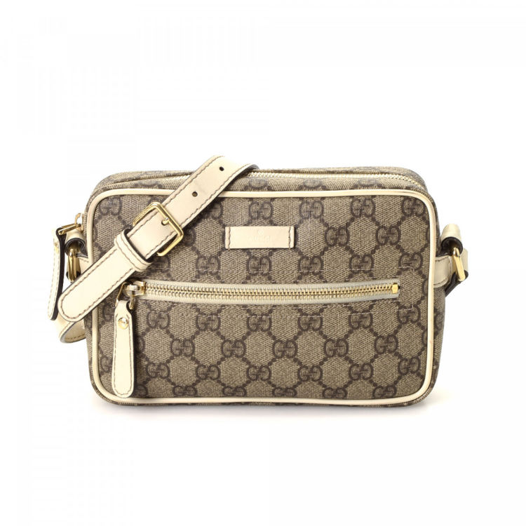 Gucci GG Supreme Shoulder Bag GG Supreme Coated Canvas - LXRandCo -  Pre-Owned Luxury Vintage a70fdbb3565ab