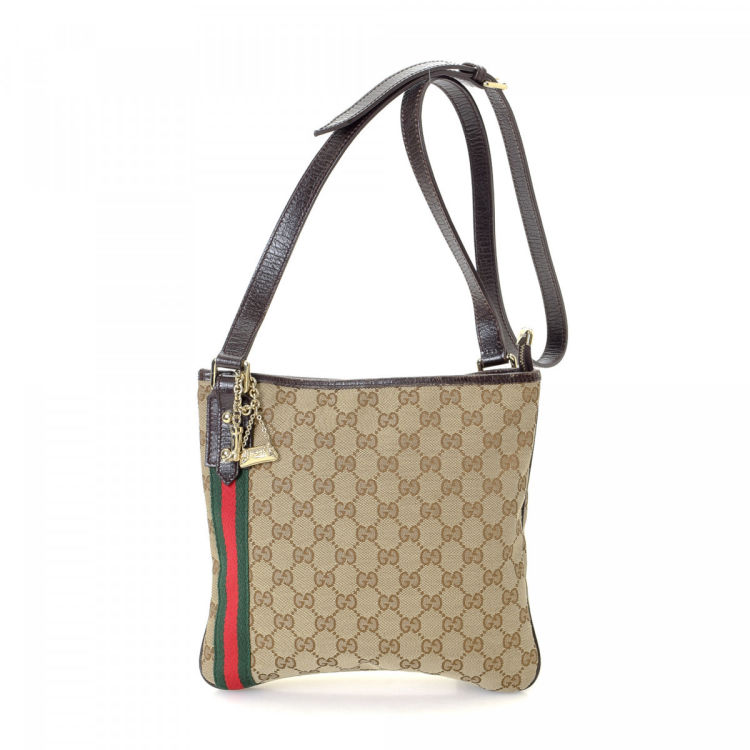 63cc8fe63add Gucci Jolicoeur Crossbody Bag GG Canvas - LXRandCo - Pre-Owned Luxury  Vintage