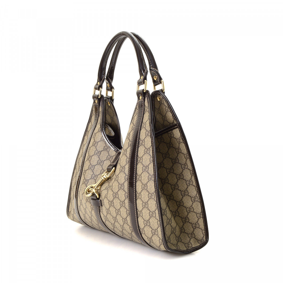 f441fe93303 Gucci GG Supreme Bardot GG Supreme Coated Canvas - LXRandCo - Pre ...
